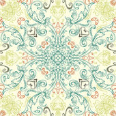 Vector seamless vintage floral pattern background — Stock Vector