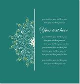 Vector vintage floral card — Stock Vector