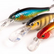 Bait for fishing - wobbler on white — Stock Photo