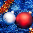 Decorated Christmas Garland with balls — Stock Photo #14454001