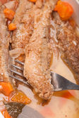 Juicy snack a roast pickled smelt with carrot — Stock Photo