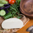 Background from mixed vegetables with wood bowl — Stock Photo #42921957
