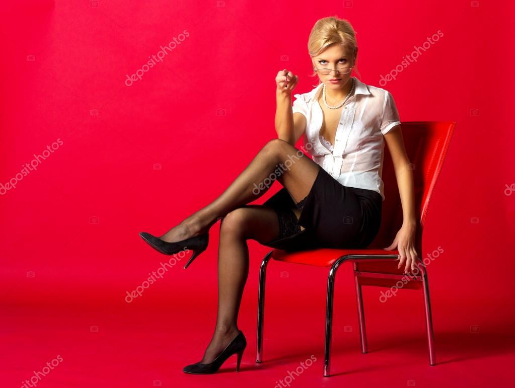 Сексуальная учительница в платье 11 фотография
