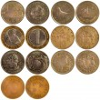 Old rare coins of different countries — Stock Photo