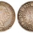 Vintage silver coin of austria 1900 year — Stock Photo