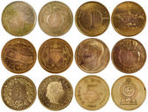 Vintage rare coins of different countries — Stock Photo