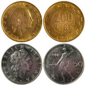 Rare coins of italy — Stock Photo