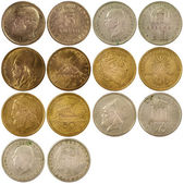 Old vintage coins of greece — 图库照片