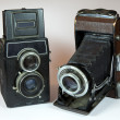 Two vintage cameras — Stock Photo