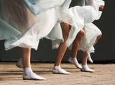 Feet dancing women — Photo
