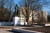 Schiller monument in kaliningrad — Stock Photo