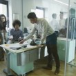 Young creative business team at work in a contemporary office — Stock Video
