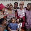 Portrait of African family group and a medical worker — Stock Video #44348275