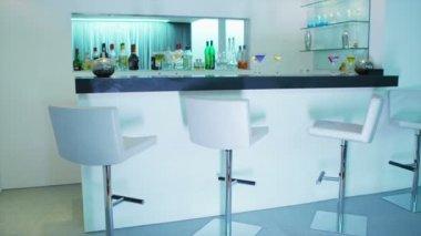 White bar interior — Stock Video