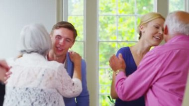 Three generations of family socializing — Stock Video