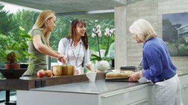 Rodzina & przyjaciele przygotowania posiłku — Wideo stockowe