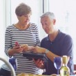 Couple with computer tablet. — Stock Video #44758891