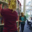 Student group in college library. — Stock Video #44808805