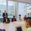 Business team in boardroom meeting in a large modern office building — Stock Video #44820927