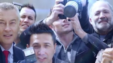 Celebrity Photographed By Paparazzi — Stock Video