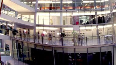 Busy office workers in office building — Stock Video