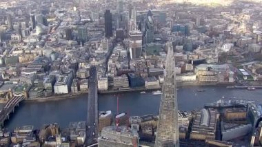 London and river Thames — Vídeo Stock