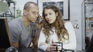 Couple receive good news — Stock Video