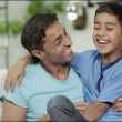Father and son spending time together at home — Stock Video #45205393