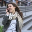 Female is talking on phone — Stock Video #45416271
