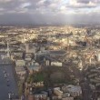 Panoramic aerial view above the city of London and the river Thames — Stock Video #45471347