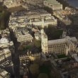 Aerial view above the London city of Westminster — Stock Video #45473799