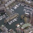 Aerial view above the London city — Stock Video