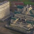 Aerial view of the Vauxhall Cross, home to the British Intelligence Services — Stock Video #45475173