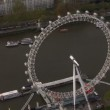 Aerial view of the London eye and the River Thames — Stock Video #45475767