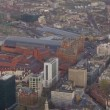 Aerial view over Kings Cross railway station in London — Stock Video #45475987