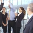 Group of business people in office — Stock Video #45476025
