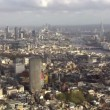 Panoramic aerial view above the city of London and the river Thames — Stock Video #45476173
