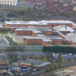 Wide aerial view of HM Prison Holloway — Stock Video #45477301