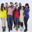 Multi ethnic people are standing together — Stock Video #45478309