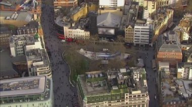 Aerial view of Leicester Square, London — Stock Video