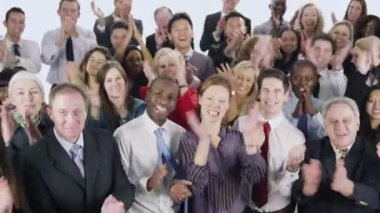 Multi-ethnic group of business people — Stock Video