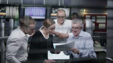 Business team taking break — Stock Video