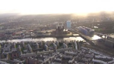 Section of river Thames in London — Stok video