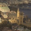Aerial view of the city of Westminster in London — Stock Video #45487571