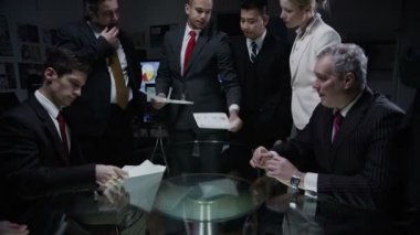 Business professionals are having meeting — Stock Video