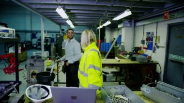 Busy warehouse workers preparing goods for packaging and delivery — Stock Video