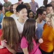 Multi ethnic people are standing together — Stock Video #45493403