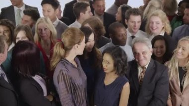 Multi ethnic group of business people — Stockvideo