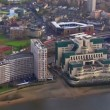 Aerial view of the Vauxhall Cross, home to the British Intelligence Services — Stock Video #45502575