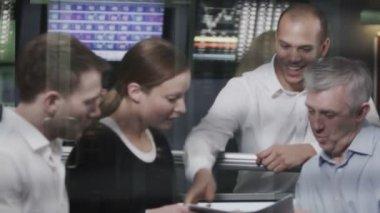 Business team taking break from work — Stock Video